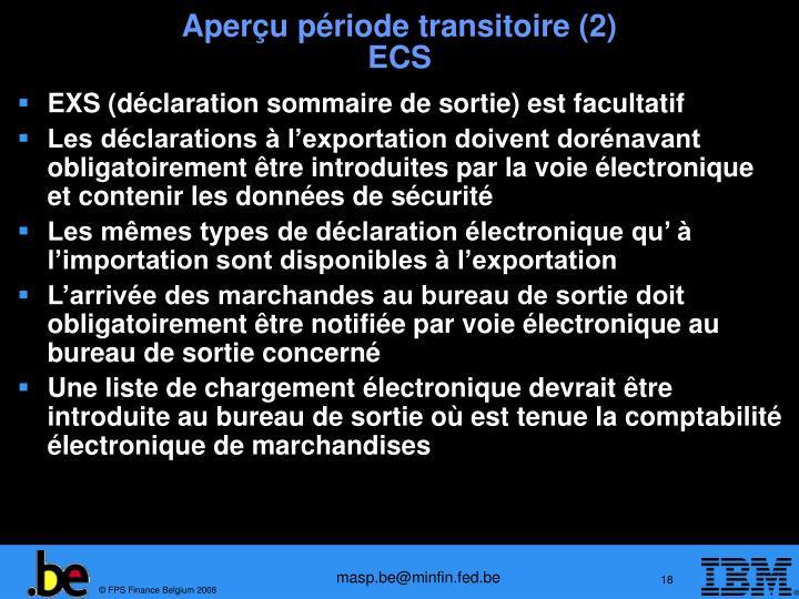 Aperçu période transitoire (2)
