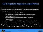 eori registratie belgische marktdeelnemers