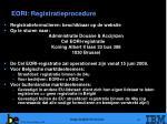 eori registratieprocedure
