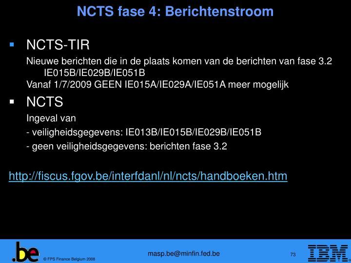 NCTS fase 4: Berichtenstroom