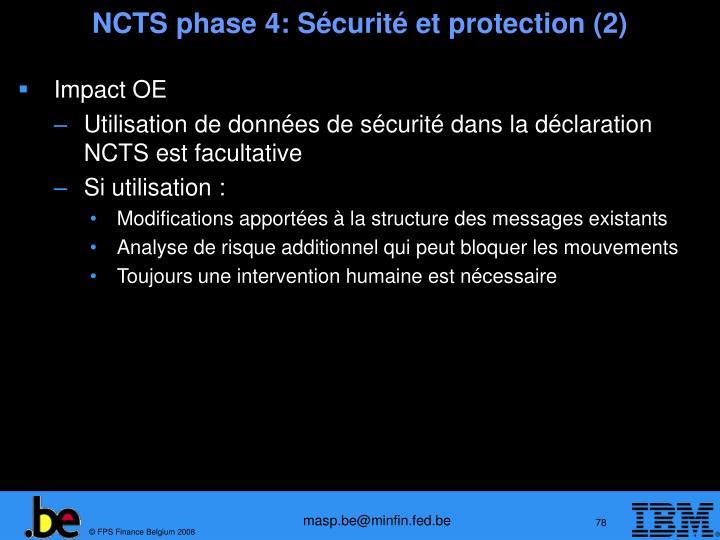 NCTS phase 4: Sécurité et protection (2)