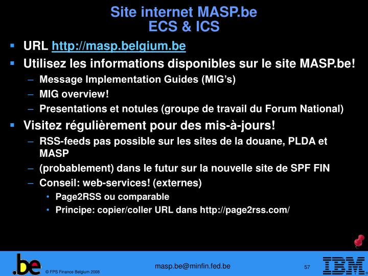 Site internet MASP.be