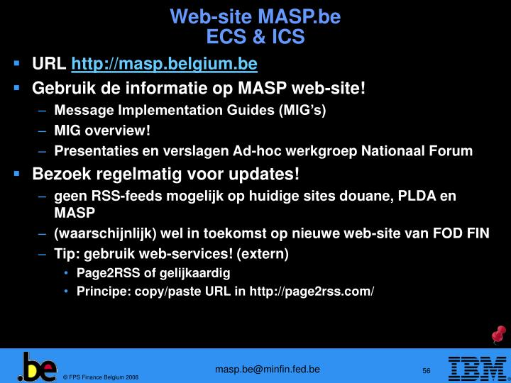 Web-site MASP.be