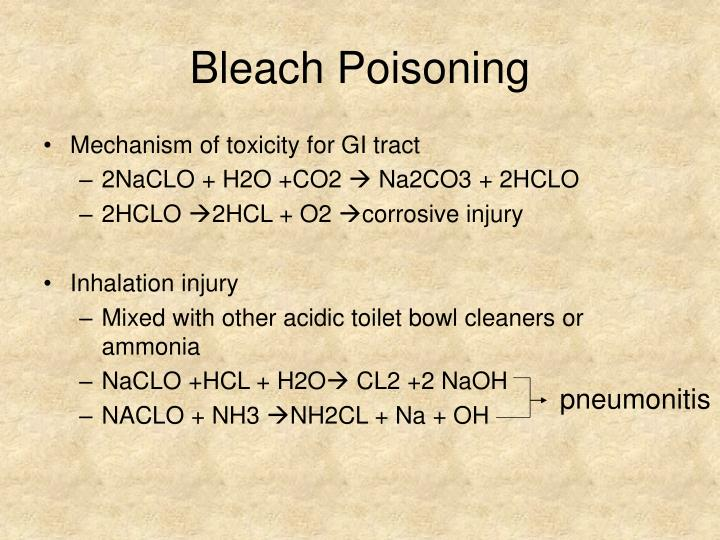 Bleach Poisoning