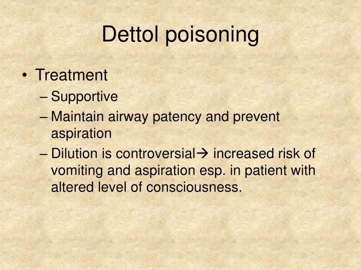 Dettol poisoning