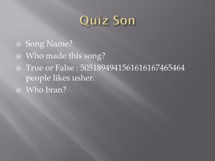 Quiz Son