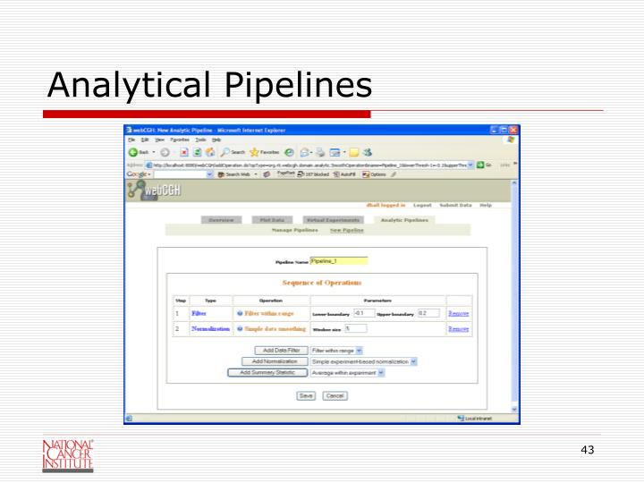 Analytical Pipelines