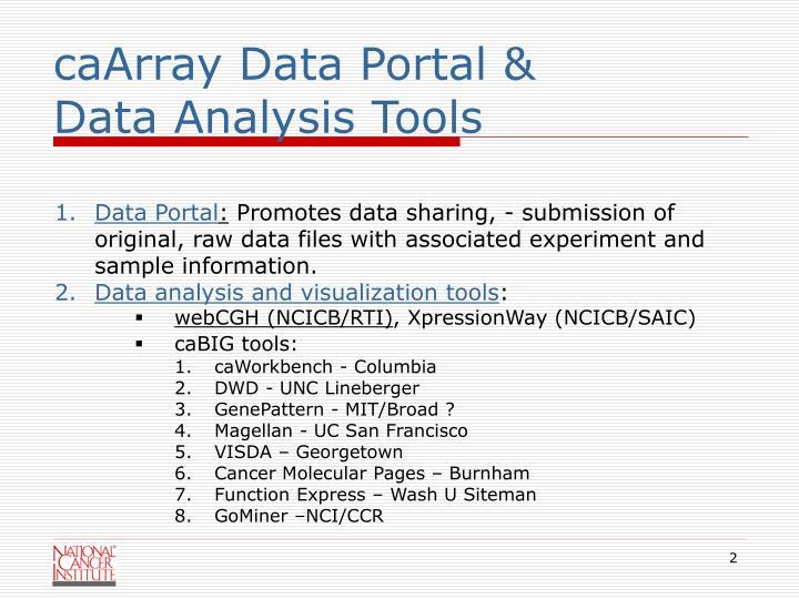 caArray Data Portal &