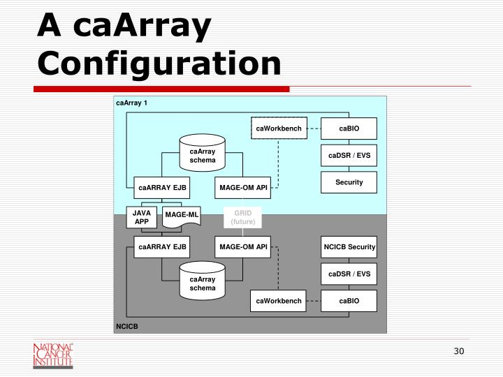 A caArray Configuration