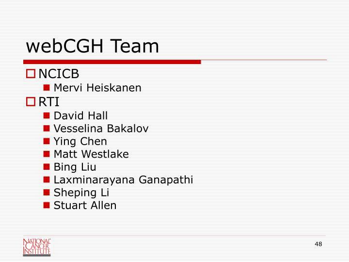 webCGH Team