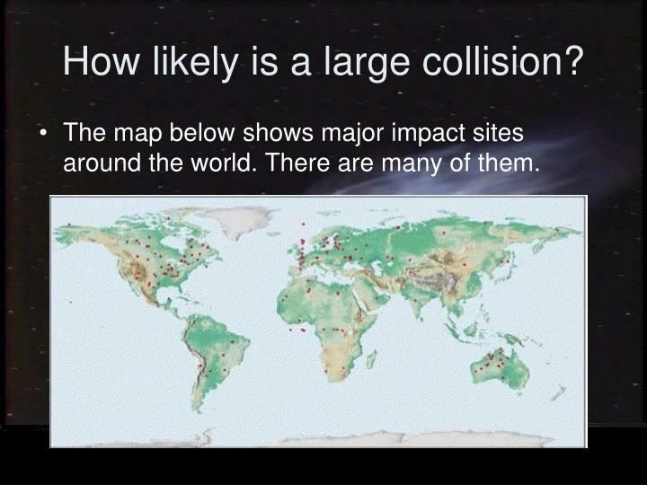 How likely is a large collision?