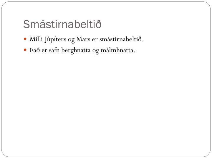 Smástirnabeltið