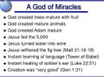 a god of miracles