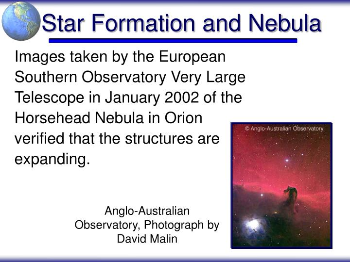 Star Formation and Nebula