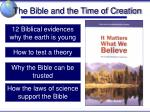 the bible and the time of creation1
