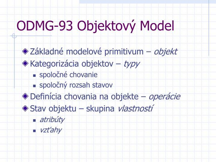 ODMG-93 Objektov