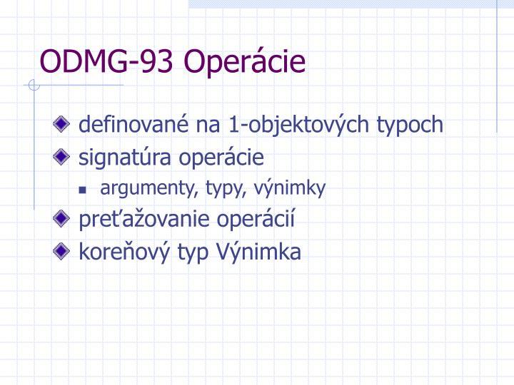 ODMG-93 Operácie