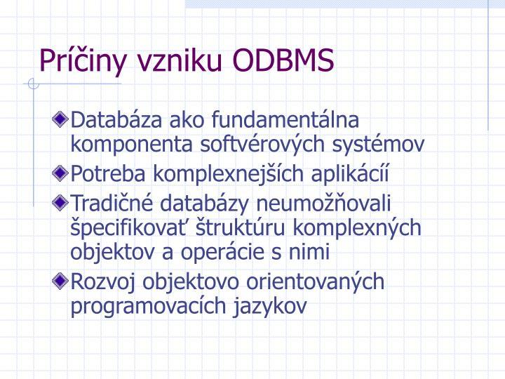 Príčiny vzniku ODBMS