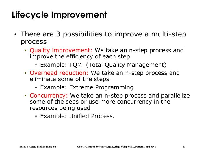 Lifecycle Improvement
