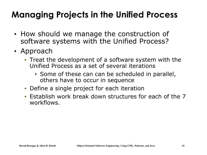 Managing Projects in the Unified Process