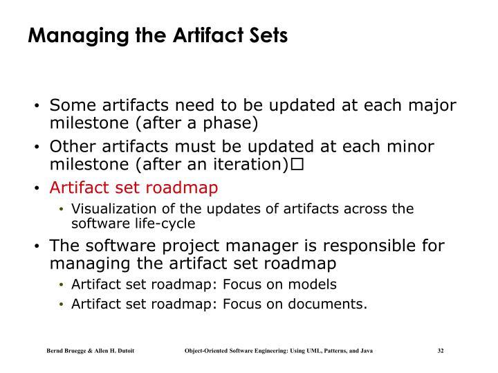 Managing the Artifact Sets