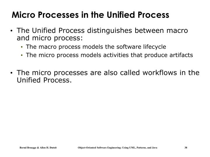 Micro Processes in the Unified Process