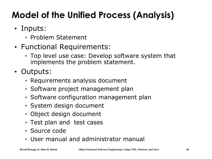 Model of the Unified Process (Analysis)