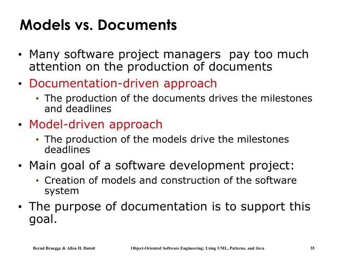 Models vs. Documents