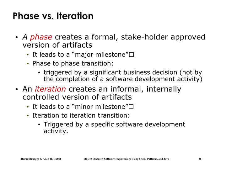 Phase vs. Iteration
