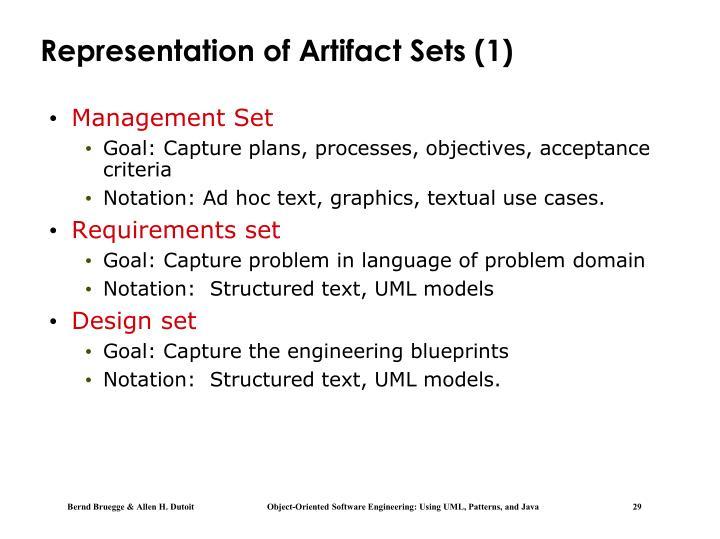 Representation of Artifact Sets (1)