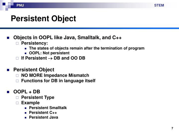 Persistent Object