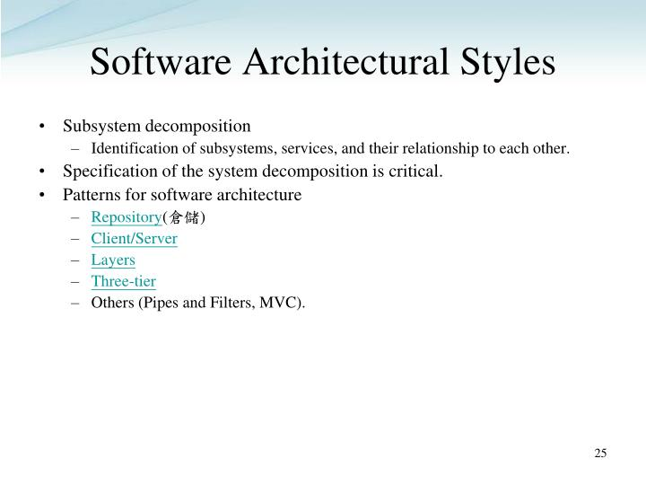 Software Architectural Styles