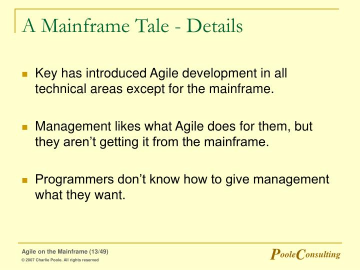 A Mainframe Tale - Details