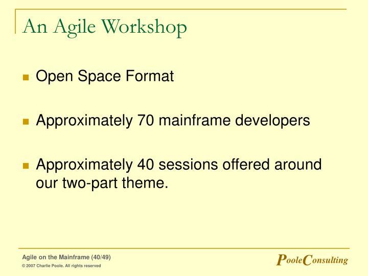 An Agile Workshop