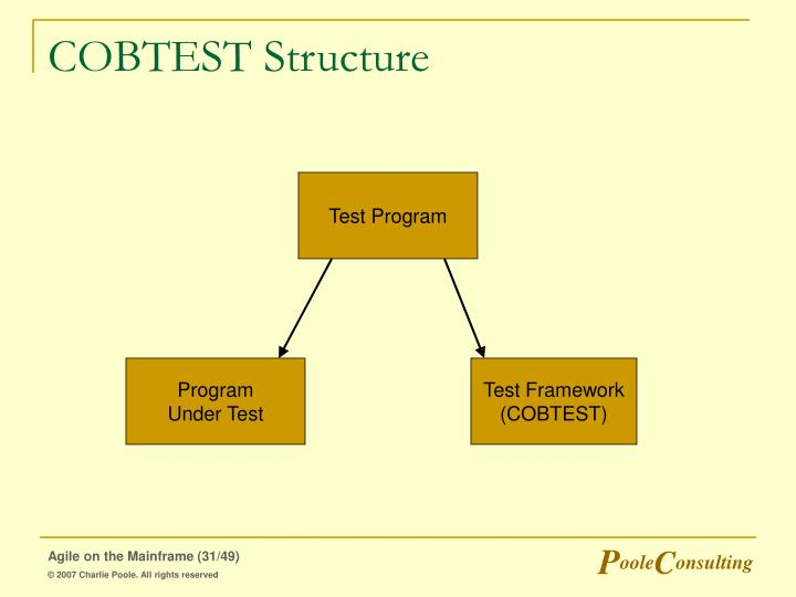COBTEST Structure