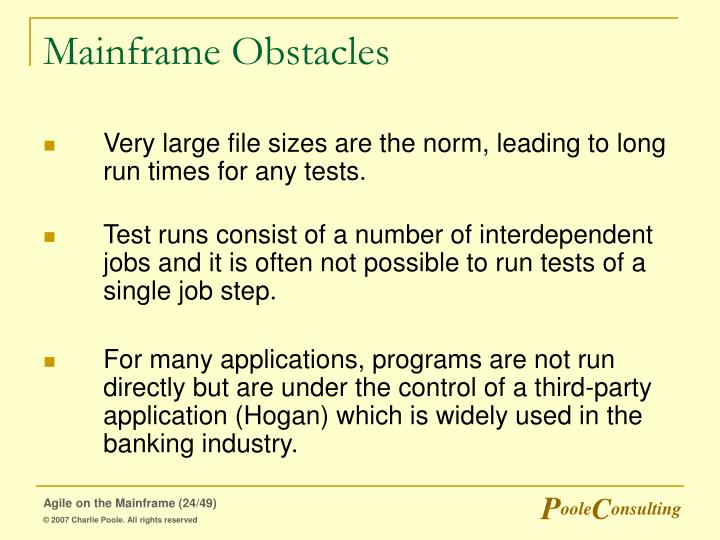 Mainframe Obstacles