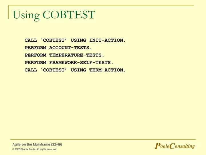 Using COBTEST