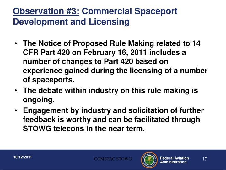 Observation #3: