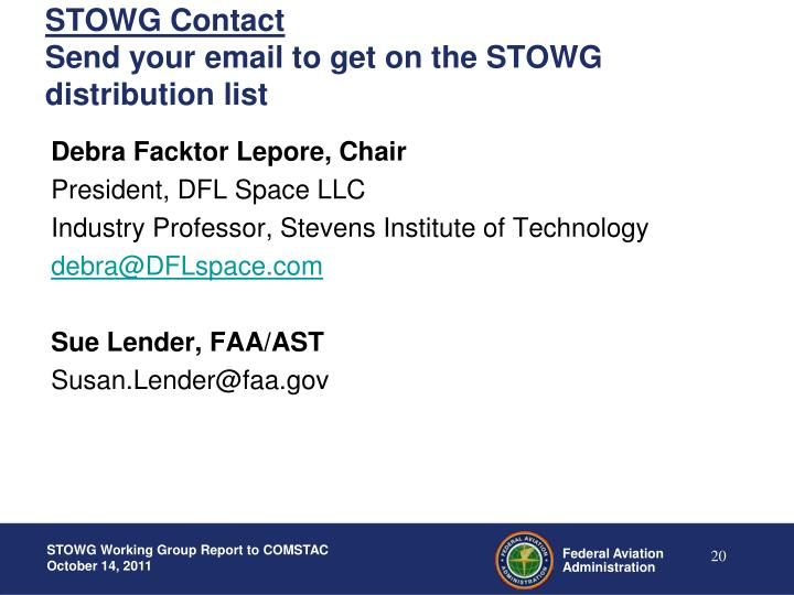 STOWG Contact