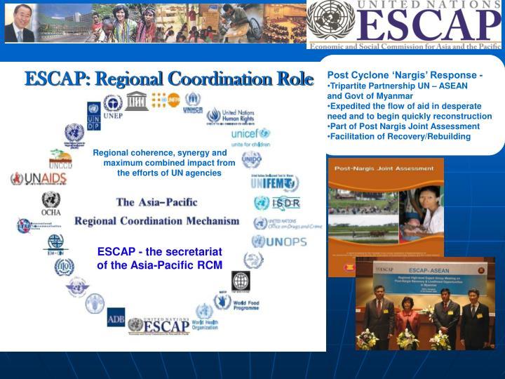 ESCAP: Regional Coordination Role