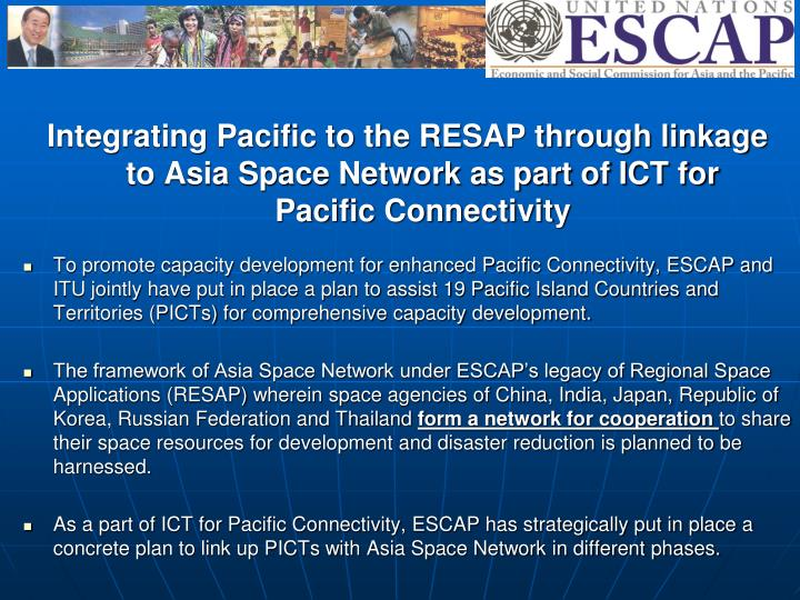 Integrating Pacific to the RESAP through linkage