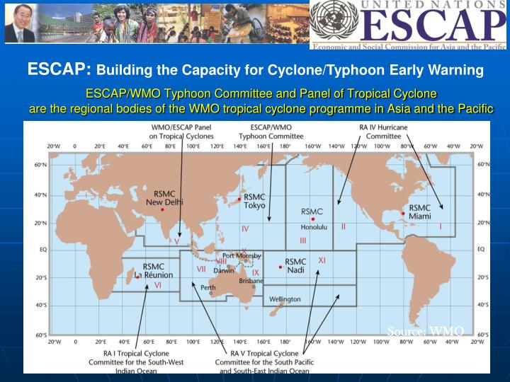 ESCAP/WMO Typhoon Committee and Panel of Tropical Cyclone