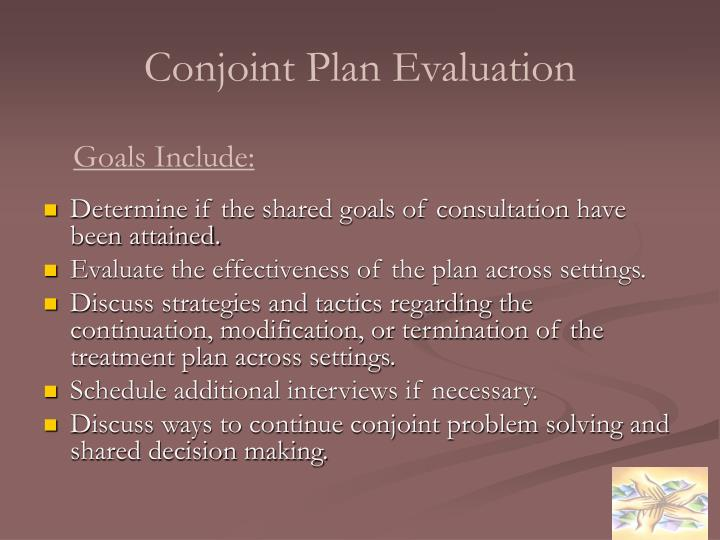 Conjoint Plan Evaluation