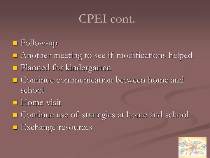 CPEI cont.