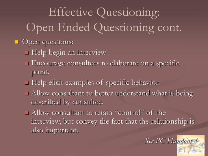 Effective Questioning: