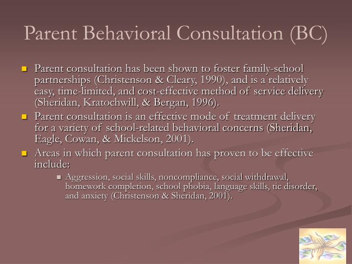 Parent Behavioral Consultation (BC)
