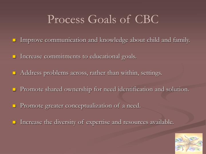 Process Goals of CBC
