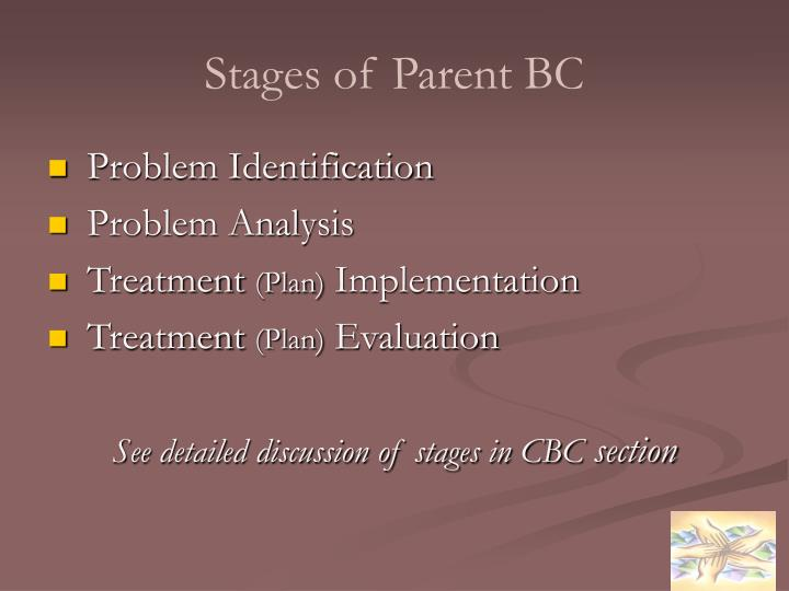 Stages of Parent BC