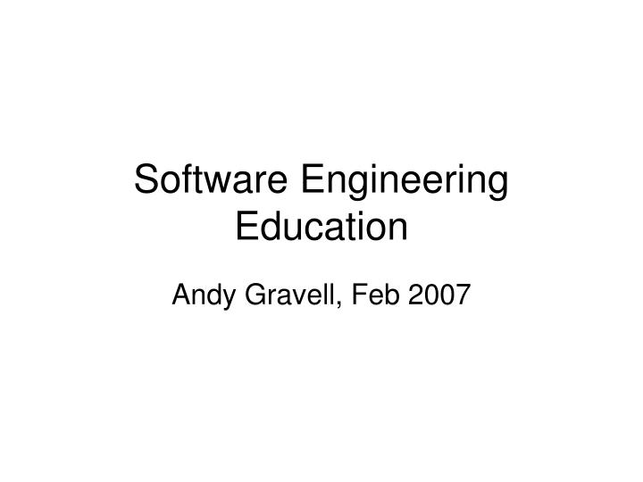 Andy gravell feb 2007