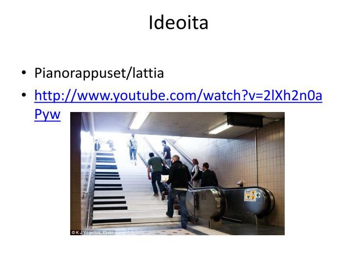 Ideoita